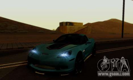 Chevrolet Corvette Grand Sport 2010 for GTA San Andreas back view