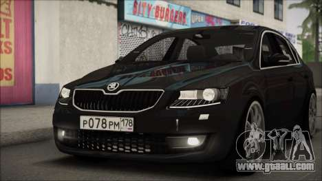Skoda Octavia A7 for GTA San Andreas back left view