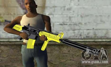 Yellow M4A1 for GTA San Andreas third screenshot