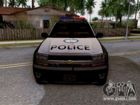 Chevrolet TrailBlazer Police for GTA San Andreas upper view