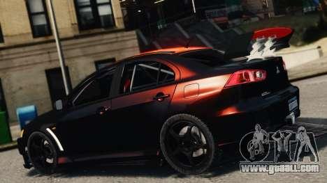 Mitsubishi Lancer Evolution X 2008 Black Edition for GTA 4 left view