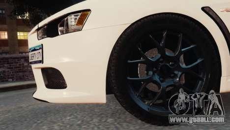 Mitsubishi Lancer Evolution X 2008 for GTA 4 right view