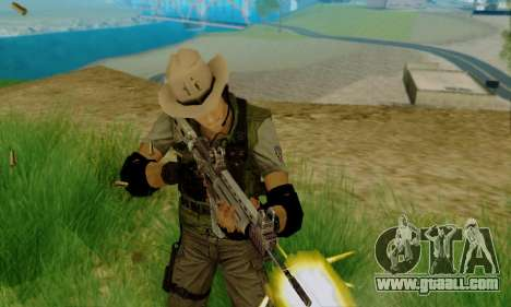 Resident Evil Apocalypse S.T.A.R.S. Sniper Skin for GTA San Andreas second screenshot