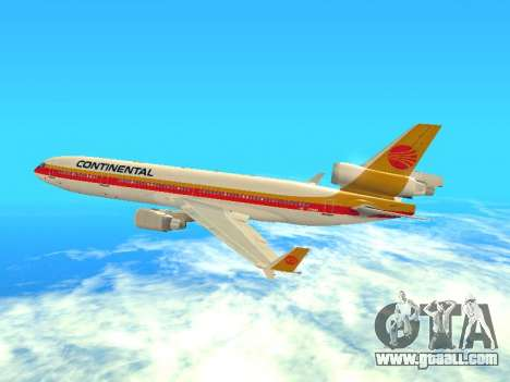 McDonnell Douglas MD-11 Continental Airlines for GTA San Andreas back view