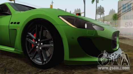 Maserati GranTurismo MC Stradale for GTA San Andreas upper view