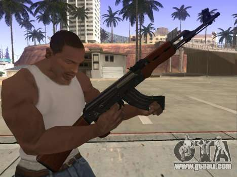 AK-47 for GTA San Andreas fifth screenshot