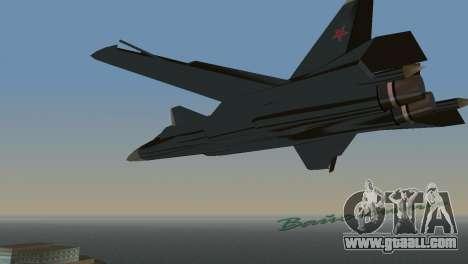 Su-47 Berkut for GTA Vice City right view