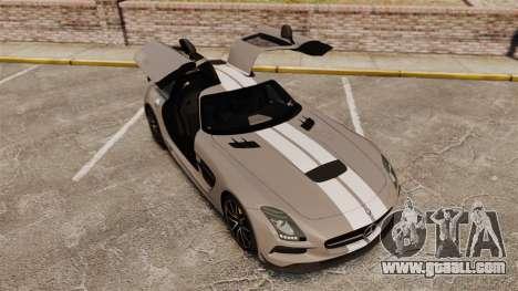 Mercedes-Benz SLS 2014 AMG NFS Stripes for GTA 4 upper view