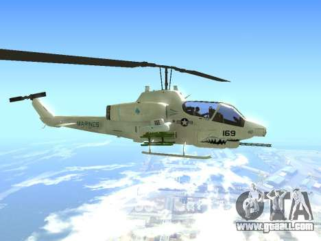 AH-1W Super Cobra for GTA San Andreas