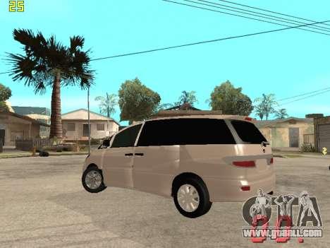 Toyota Estima KZ Edition 4wd for GTA San Andreas back view