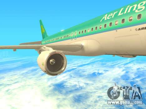Airbus A320-200 Aer Lingus for GTA San Andreas side view