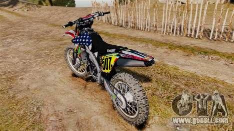 Kawasaki KX250F Monster KX USA for GTA 4 right view