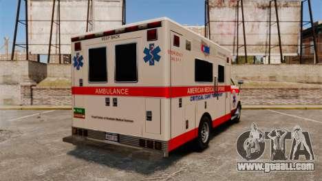 Brute Ambulance v2.1-SH for GTA 4 back left view