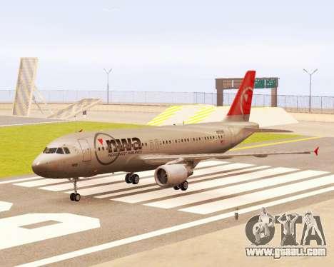 Airbus A320 NWA for GTA San Andreas