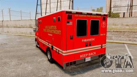 Brute LSFD Paramedic for GTA 4 back left view