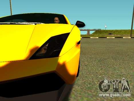 Lamborghini Gallardo Super Trofeo Stradale for GTA San Andreas inner view