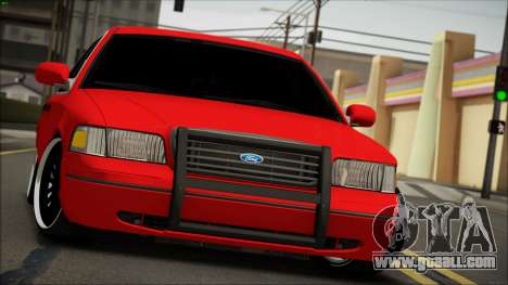 Ford Crown Victoria for GTA San Andreas back view