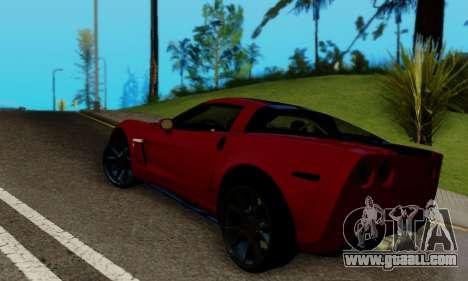 Chevrolet Corvette Grand Sport 2010 for GTA San Andreas back left view