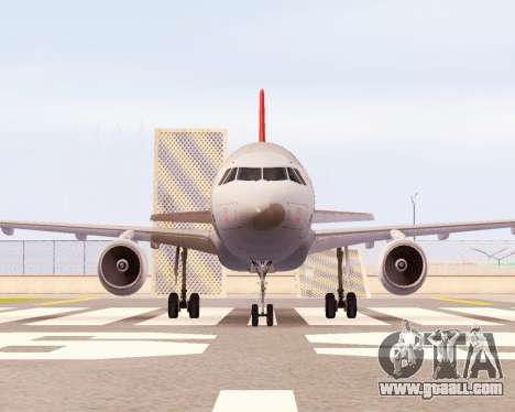 Airbus A320 NWA for GTA San Andreas left view