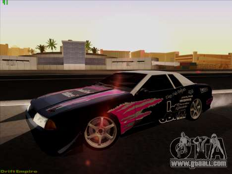Vinyls for Elegy for GTA San Andreas back view