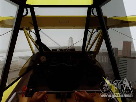 Grumman G-164 AgCat for GTA San Andreas side view
