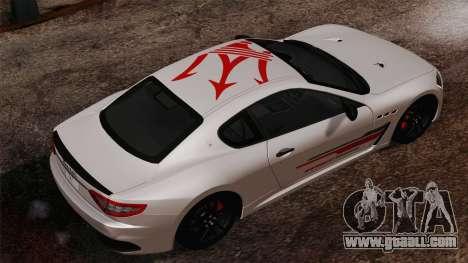 Maserati GranTurismo MC Stradale for GTA San Andreas left view