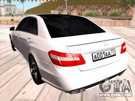 Mercedes-Benz E63 AMG 2010 for GTA San Andreas right view