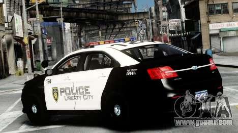 Ford Police Interceptor LCPD 2013 [ELS] for GTA 4