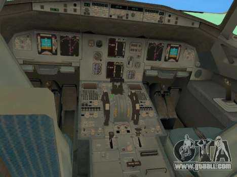 Airbus A320-200 Aer Lingus for GTA San Andreas interior