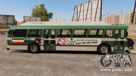 Iranian paint bus for GTA 4 left view