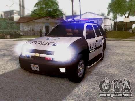 Chevrolet TrailBlazer Police for GTA San Andreas left view