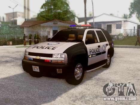 Chevrolet TrailBlazer Police for GTA San Andreas