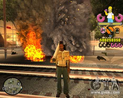 C-HUD Mr. Simpson for GTA San Andreas second screenshot
