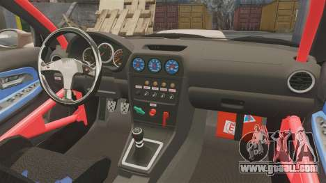 Subaru Impreza WRX STI 2004 for GTA 4 inner view