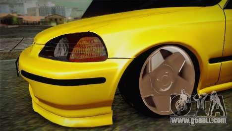 Honda Civic Edit Mehmet ALAN for GTA San Andreas right view
