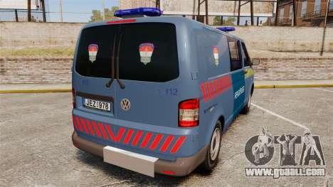 Volkswagen Transporter T5 Hungarian Police [ELS] for GTA 4 back left view