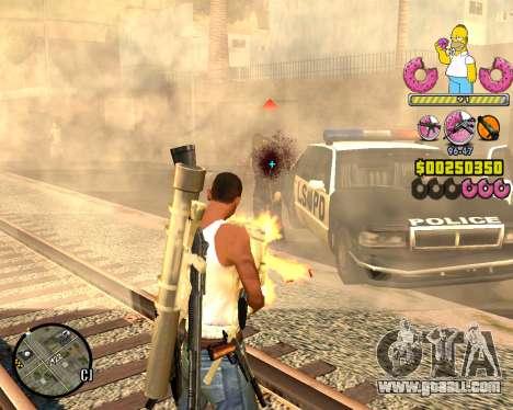 C-HUD Mr. Simpson for GTA San Andreas third screenshot