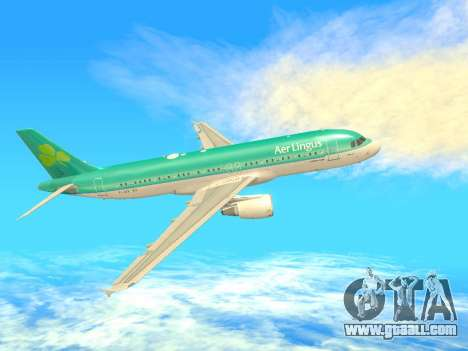 Airbus A320-200 Aer Lingus for GTA San Andreas right view