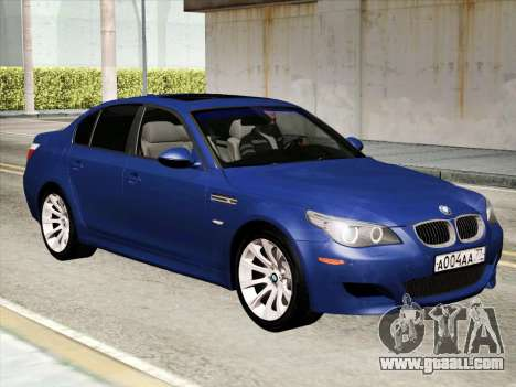 BMW M5 E60 2010 for GTA San Andreas left view