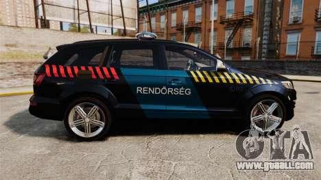 Audi Q7 Hungarian Police [ELS] for GTA 4 left view
