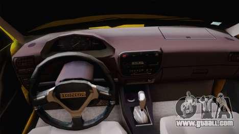Honda Civic Edit Mehmet ALAN for GTA San Andreas back view