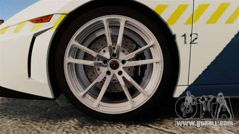 Lamborghini Gallardo Hungarian Police [ELS] for GTA 4 back view