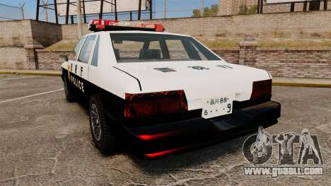 GTA SA Japanese Police Cruiser [ELS] for GTA 4 back left view