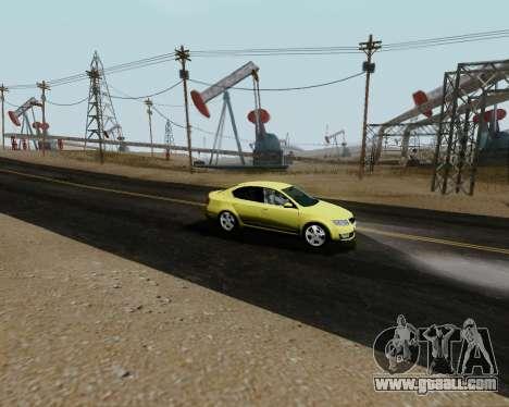 Skoda Octavia A7 for GTA San Andreas right view