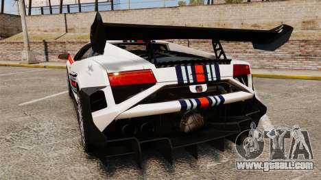 Lamborghini Gallardo LP570-4 Martini Raging for GTA 4 back left view