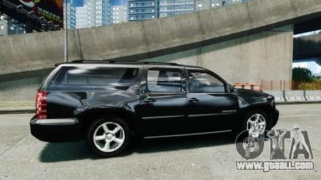 Chevrolet Suburban 2008 FBI [ELS] for GTA 4 left view