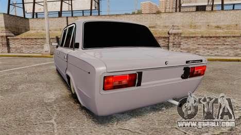 VAZ-2106 Zhiguli BUNKER for GTA 4 back left view