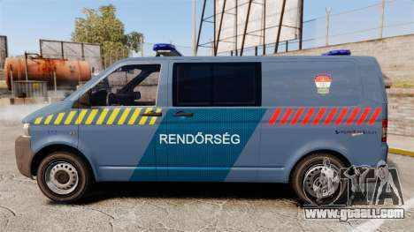 Volkswagen Transporter T5 Hungarian Police [ELS] for GTA 4 left view