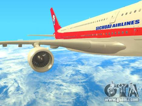 Airbus  A380-800 Sichuan Airlines for GTA San Andreas right view