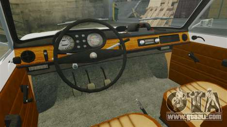 Wartburg 353w Deluxe Hungarian Police for GTA 4 inner view